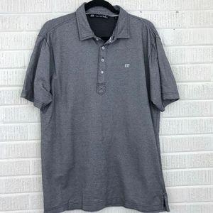 Travis Mathew Men's Golf Polo Gray Speckled - L